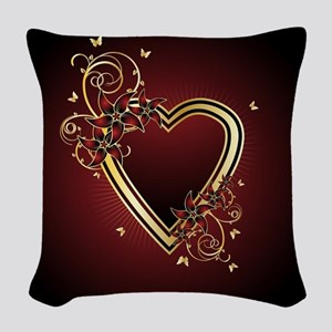 Classic Heart Woven Throw Pillow